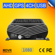 GPS 4CH HDD Hard Disk 1080P AHD Mobile Dvr  H.264 Motion Detection Cycle Recording I/O Video Backplay Record GPS Track HD Mdvr free shipping new 4ch hd 720p ahd sd car mobile dvr gps track real time recording video recorder for bus taxi truck van in stock