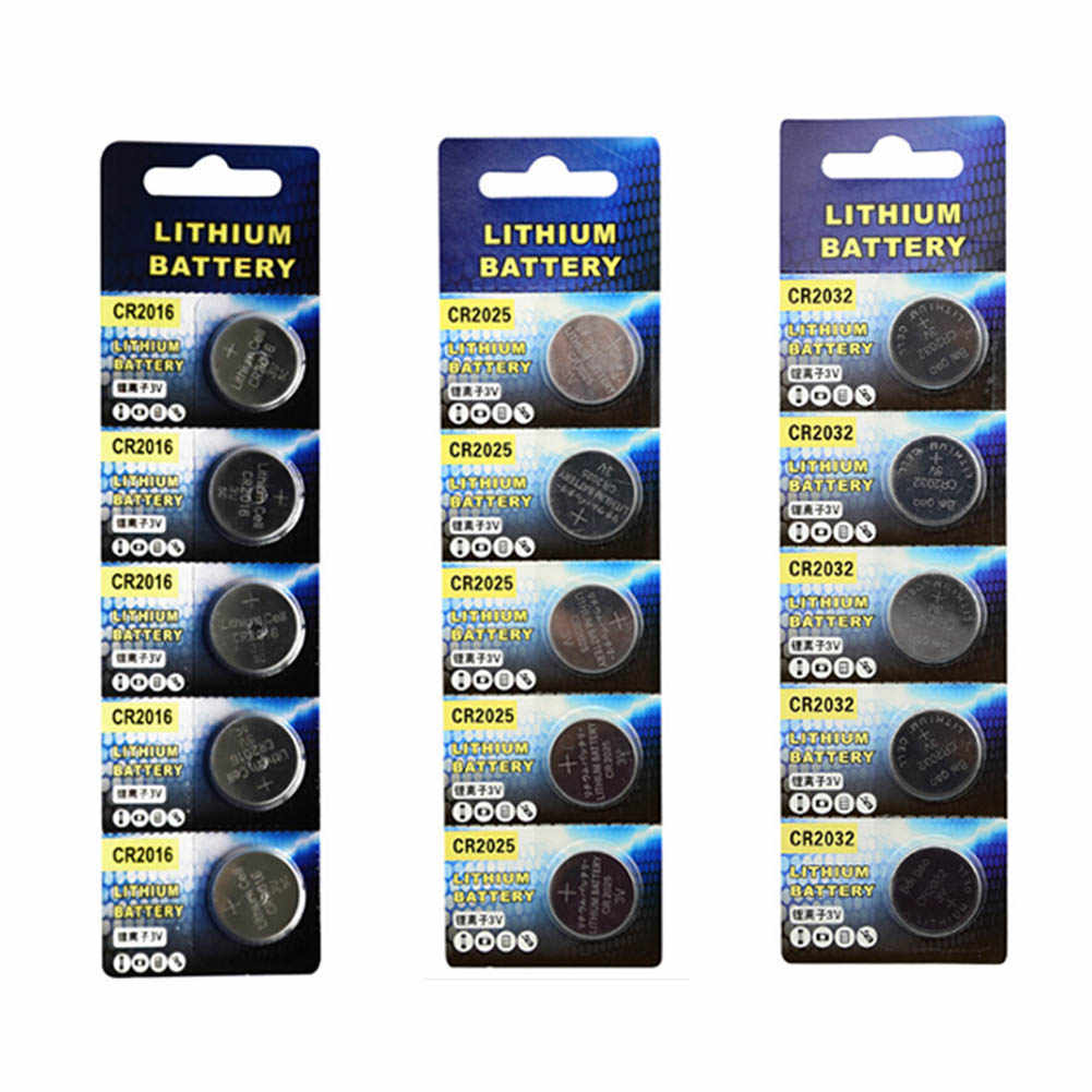 5PCs CR2016 3V Lithium Button Cell Battery For Computer Motherboard Remote Control Button Battery CR2016
