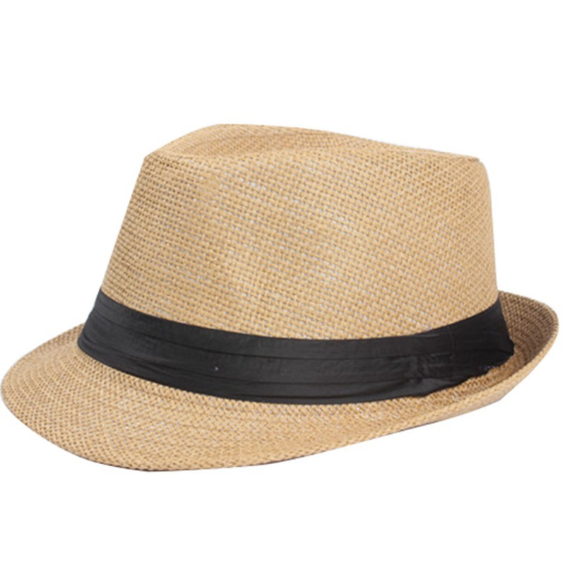 Summer Hat Women Vacation Trilby Hat Unisex Men Straw Lover Gangster Cap  Hot Sale b4847849710