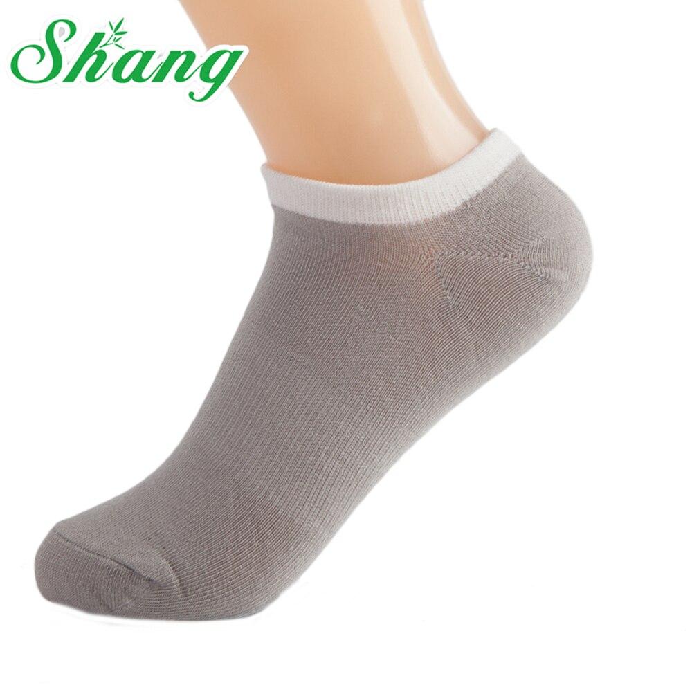BAMBOO WATER SHANG Calcetines de hombre Zapatillas de calcetín de fibra de bambú para hombre Calcetines transpirables de color puro Calcetines masculinos 5 pares / paquete LQ-12