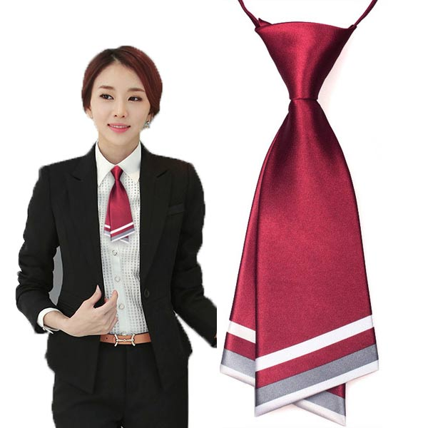 Solid Color Fashion Women Necktie Crew Cut Cravat Ties Service Neckwear 16Color For Choose Free Shipping 5 PCS