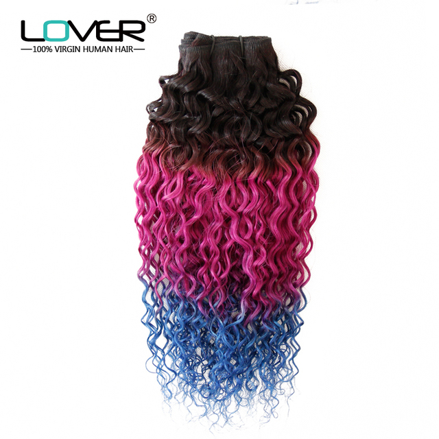 Grade Mermaid 7a Ombre Hair Extensions Curly Hair 3 Tone 1bpink