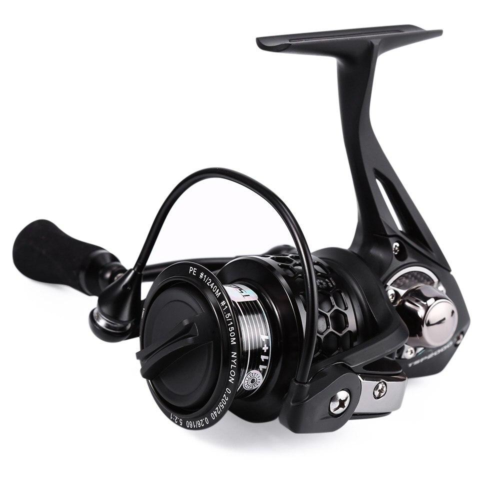 TSURINOYA TSP 2000 12BB roulements métal arbre moulinets de pêche haute vitesse 5.2: 1 carpe roue de pêche avec bobine de rechange moulinets de pêche