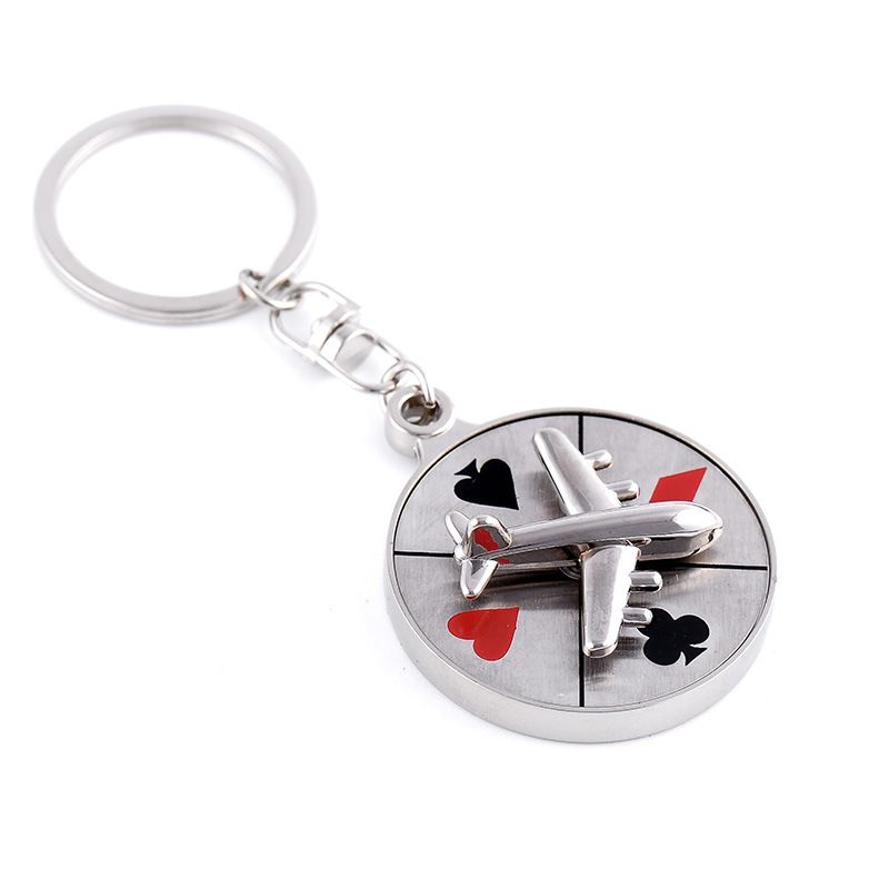 607651443 Hot atacado criativo rotativo de avião jogo de estilo de jogo menina  chaveiro jóias presente para mulheres