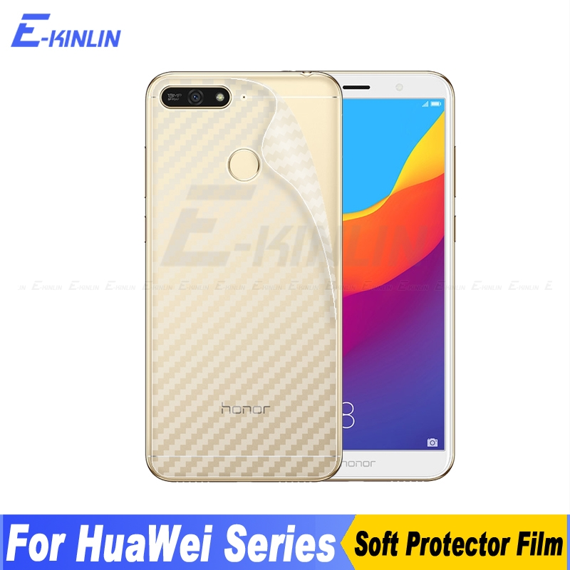 3D Carbon Fiber Back Cover Screen Protector For <font><b>HuaWei</b></font> <font><b>Honor</b></font> 8C 7A 7C 6C Pro 6X 5 <font><b>5C</b></font> Sticker Protective Film Not <font><b>Glass</b></font> image