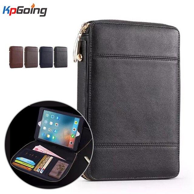Молния Бумажник Tablet Case Cover для Ipad MINI 4 7.9 Бизнес флип Стенд Крышка для МИНИ 4 Luxury Пу Кожаный Портфель, Сумка Case