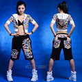 Nueva moda 2016 Mujeres pantalones de Hip hop danza pantalones de chándal del desgaste ds trajes loose pantalón casual femenina pantalones hasta la rodilla