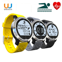 UWatch F69 Bluetooth Smart Watch Touch Screen Wrist Smartwatch Waterproof Swimming IP68 For Android Wearable Heart