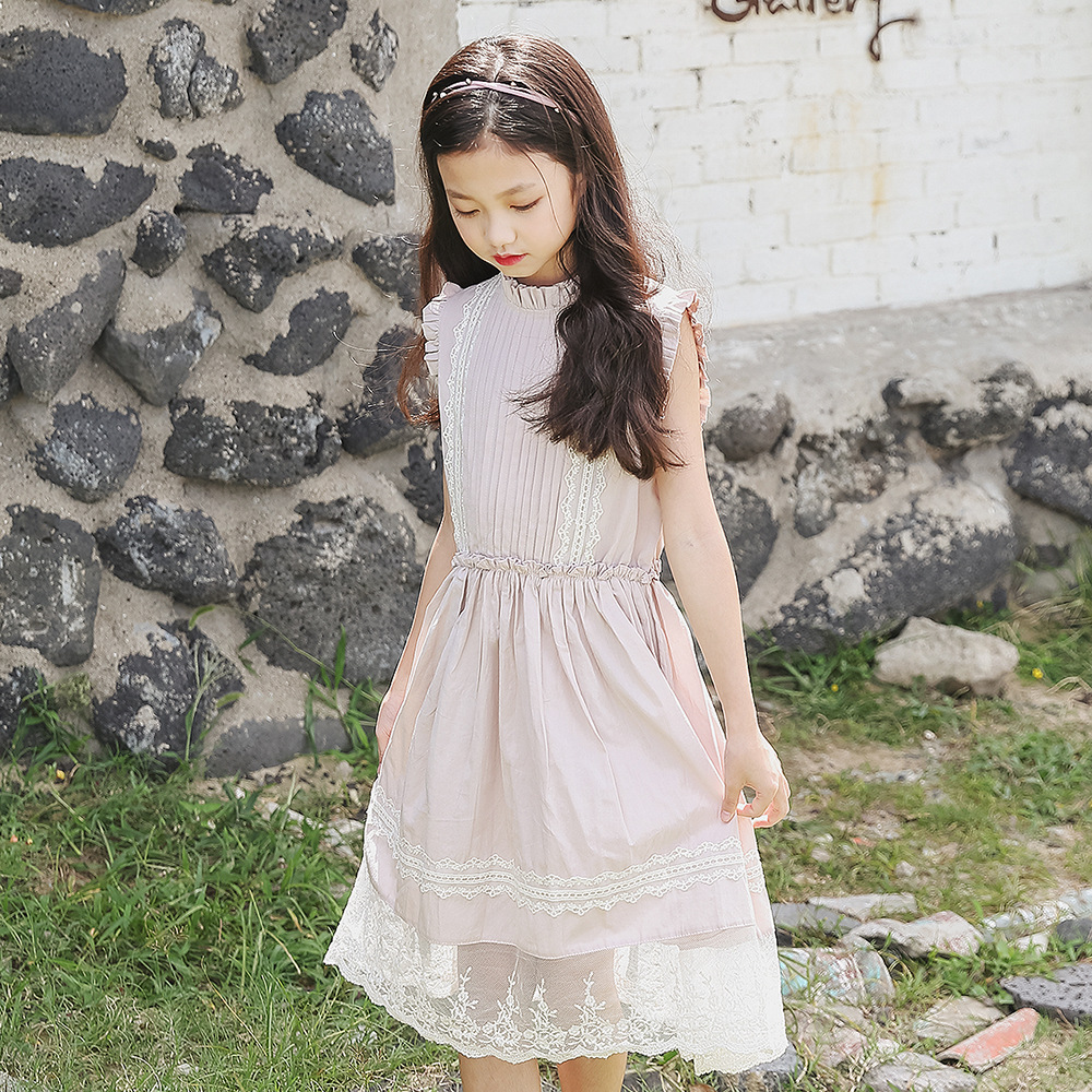 Girls Lace Dress 2018 Summer Style Kids Princess Dress Children Clothing Short Sleeves Casual Design for Girls Clothes CC691 summer 2017 new korean style fashion fly sleeve girls dress cute children clothing kids lace princess costume girls clothes
