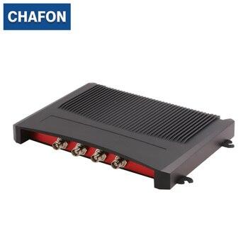 Impinj R2000 fijo rfid uhf lector de 4 puertos con RS232 RS485 RJ45 (TCPIP) la interfaz USB proporciona un sistema de distribución libre para deportes