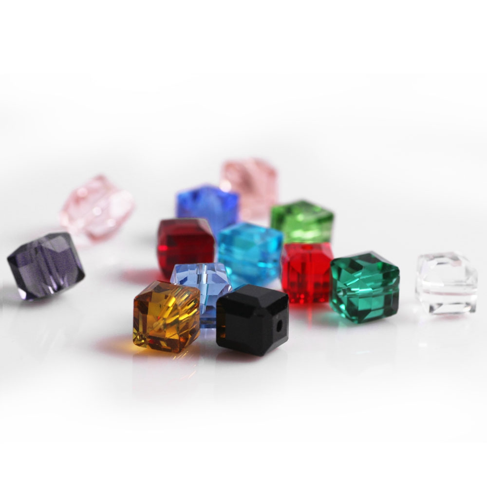 Zhubi 300pcs Lot 3mm Aaa Charms Crystal Cube Beads Faceted