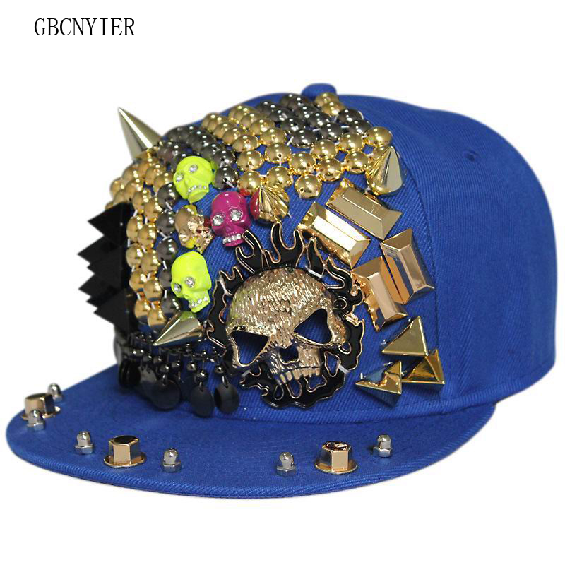 GBCNYIER Flat Brim Skull Baseball-Cap Hiphop Sport 5pcs Hat Dance-Show-Cap Cool Leisure