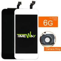 10 unids calidad AAA teléfono 6G 6 pantalla LCD negro y blanco cristal digitalizador y reemplazo de la Asamblea