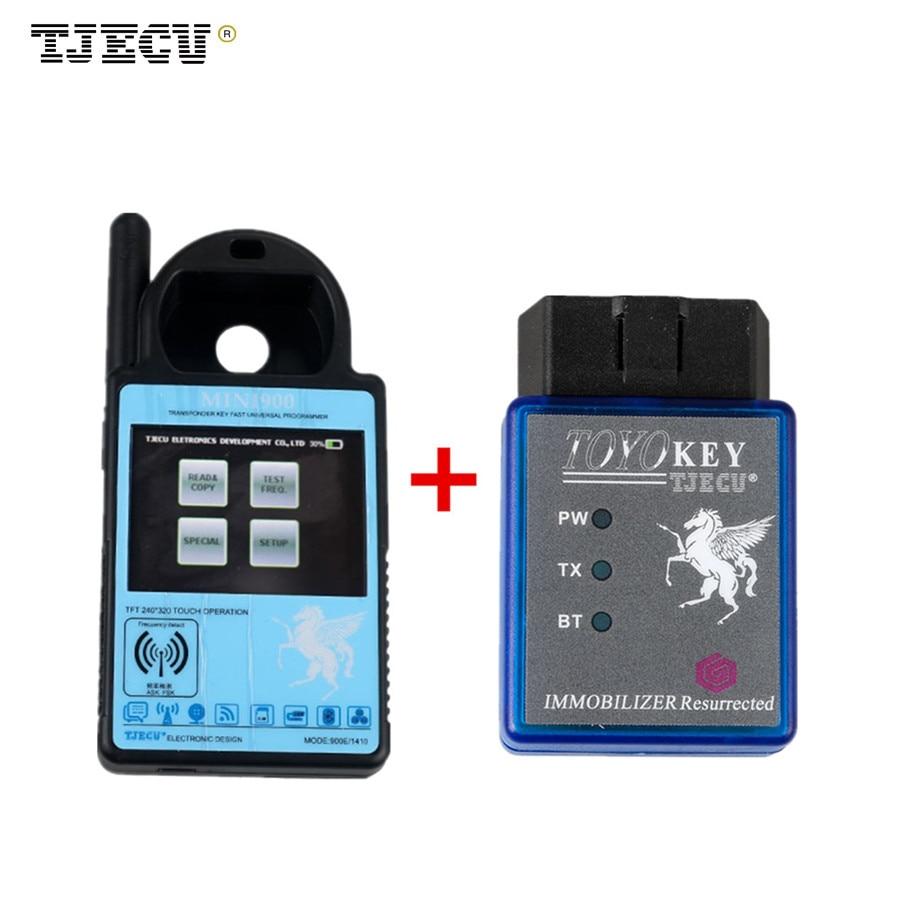 Mini ND900 Transponder Key Programmer Plus Toyo Key OBD II Key Pro Support 4C 4D 46 G H Chips