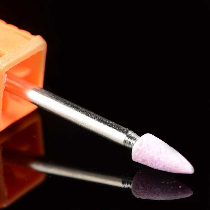 Ladymisty Ceramic Nozzle Kuku Bor Penggilingan Burr untuk Bor Listrik Manikur Pedikur Mesin Aksesoris File Kuku Alat Salon