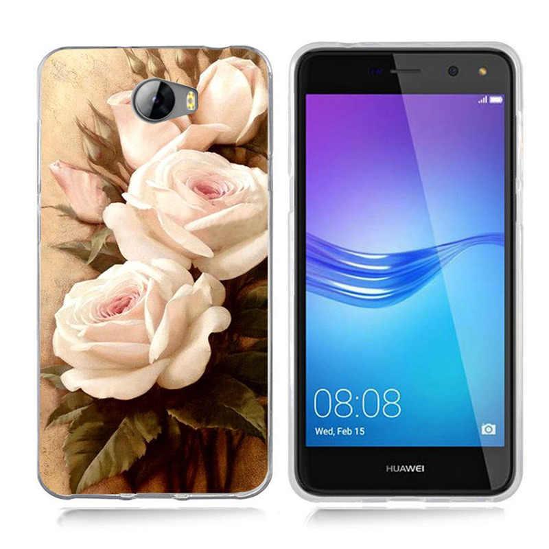 Для Huawei P9 Lite/P8 Lite/P10 Lite Y5 ii Y5ii крышка/5A LYO-L21/Y6 II с рисунком цветов и листьев Макарон защитный чехол из ТПУ с рисунком чехол для телефона A808