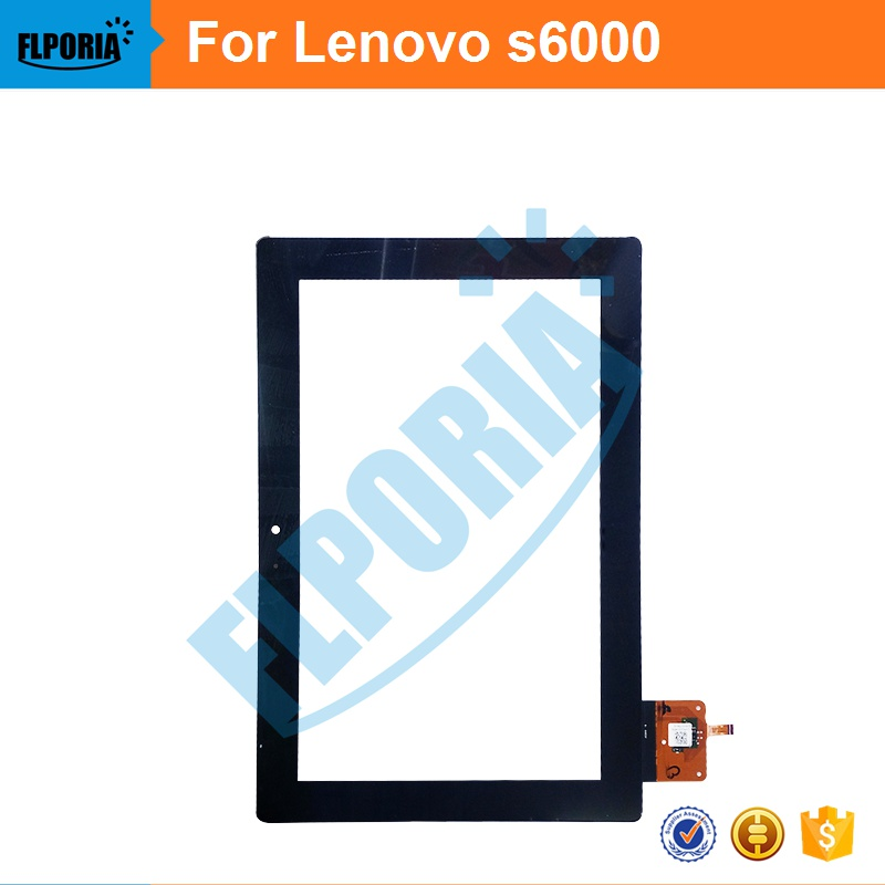 Tablet Touch Panel 10.1'' Inch For Lenovo S6000 Touch Screen Digitizer Front Glass with Flex Cable Assembly 100% New tablet touch panel 10 1 inch for asus me302 touch screen digitizer front glass with flex cable assembly 100% new