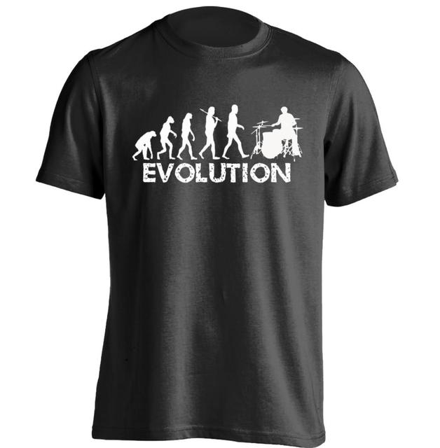 9a5d9f65bfd Drummer Evolution Mens   Womens Personalized T Shirt Design T Shirt ...