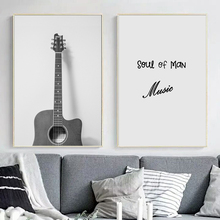 Guitar Music Quotes Wall Art Canvas Painting Nordic Posters And Prints Pop Art Canvas Poster Wall Pictures For Living Room Decor moon sun quotes nordic poster wall art canvas painting posters and prints canvas art print wall pictures for living room decor