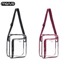 MOSIOS 2019 Fashion Design Transparent Women Shoulder Bag Clear PVC Waterproof Messenger Bags Female Crossbody New