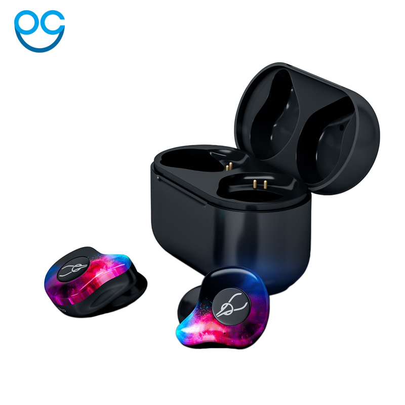 New Mini Bluetooth 5.0 3D Stereo Sound Bluetooth Earphone Invisible True Wireless Waterproof Sport Earbuds with Power Bank