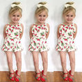 Baby Girls Cotton Strawberry Sleeveless Romper Jumpsuit Newborn Kids Summer Clothes Outfit 3-24M
