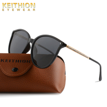 KEITHION Cat Eye Polarized Sunglasses Women Oversized Sun Glasses Female Gradient Shades Oculos Feminino UV400