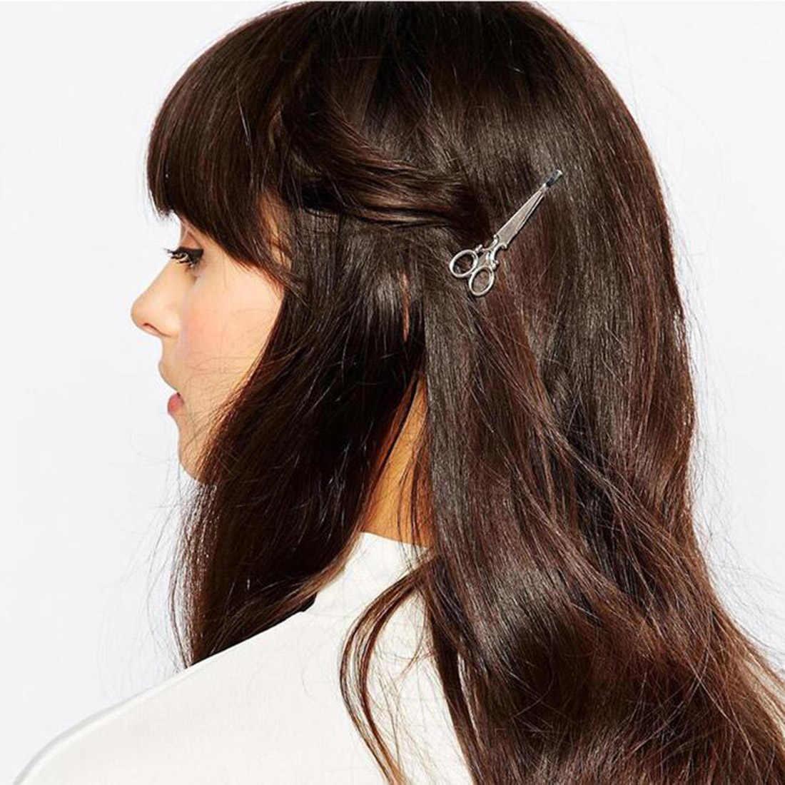 Venta superior 1 pieza tijera creativa forma mujeres señora niñas pinza de pelo delicado pasador de pelo Barrette accesorios para el cabello decoraciones