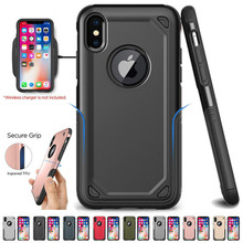 Shockproof Armor Phone Case For iPhone X XS Max XR 7 8 6 6S Plus Hybrid PC+TPU Slim Rugged Protective Case Defend Cover stylish shockproof and rugged mechanical hybrid case for iphone xr x 6 s 7 8 plus and iphone xs max tpu silicone case