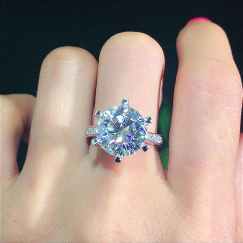 100% 18K 750Au Gold Moissanite Diamant Ring D farbe VVS Mit nationalen zertifikat MO 00101-in Ringe aus Schmuck und Accessoires bei  Gruppe 2
