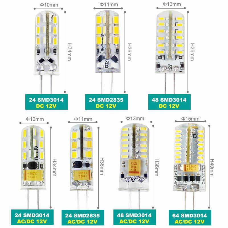 3W 5W 9W 12W 15W 21W SMD3014 G4 LED Lamp DC 12V/ AC 220V Silicone Bulb 24/32/48/64/104 152LEDs replace 10W 30W 50W Halogen Light