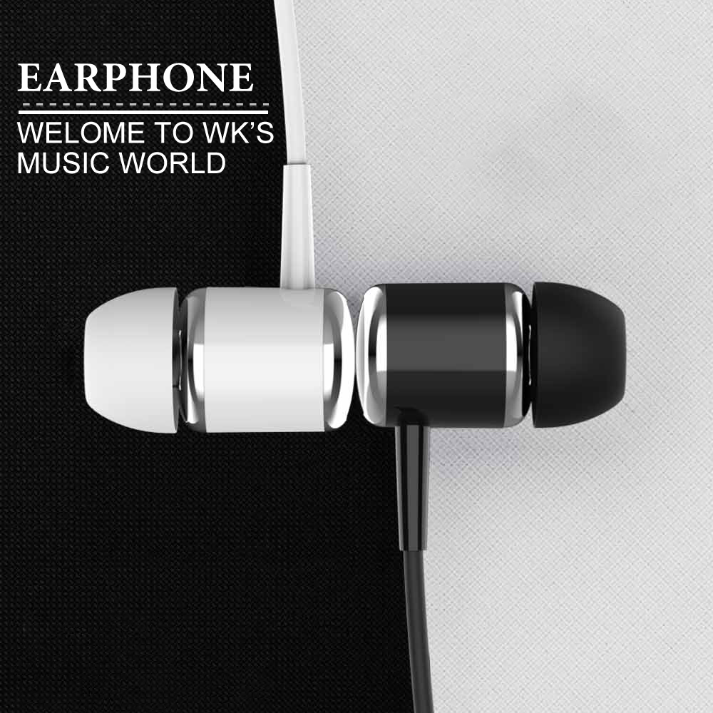 7065d858166 WK Wired Fone De Ouvido Earphone Stereo Bass Headphones Precise Sound 3.5mm  Headset with HD Mic Earbuds Auriculares Con Cable KZ