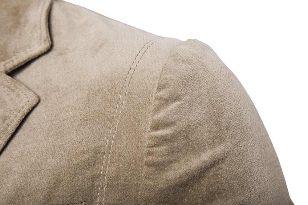 CH KWOK hombres Casual PANA Blazer terciopelo primavera otoño Outwear abrigo azul gris hombre Fiesta Club Casual Chaqueta Slim Fit