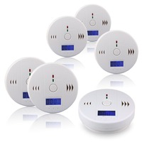 6pcs 85dB Warning High Sensitive LCD Photoelectric Independent CO Gas Sensor Carbon Monoxide Poisoning Alarm