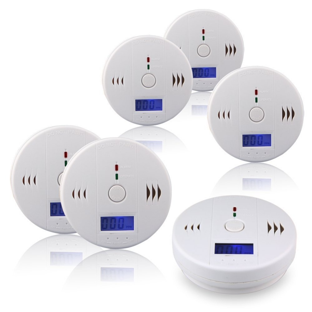 85db Warning High Sensitive Lcd Photoelectric Independent Co Gas Sensor Carbon Monoxide Poisoning Alarm Detector To Ensure A Like-New Appearance Indefinably Straightforward 6pcs