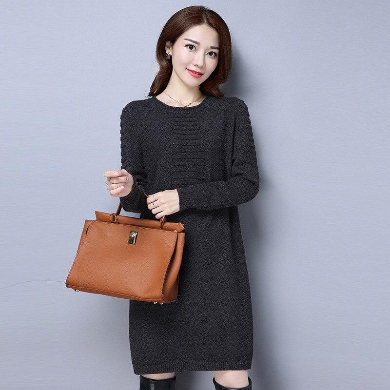 Hiver X239 armygreen De coffe Femmes En Wine Robe Vêtements 2019 Casual Solide Chaud Nouveau Pull Black Automne Coréenne Chandail red Lâche Tricot SpaEwqf