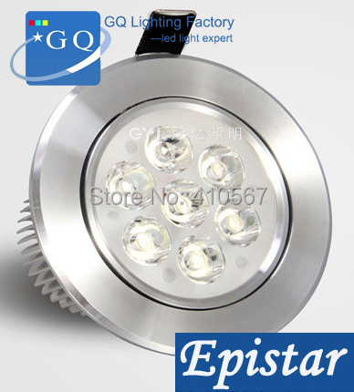 FEDEX DHL LED ceiling 7W led ceiling light,Spot light lamp,LED AC85~265V silver color ceiling lantern indoor Lamp