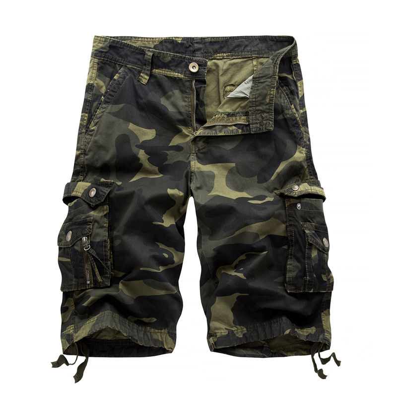 2017 Men Summer Army Camouflage Shorts Men's Fashion Cargo Shorts Male workoutshort Homme Cotton Shorts Baggy Tactical Shorts 38