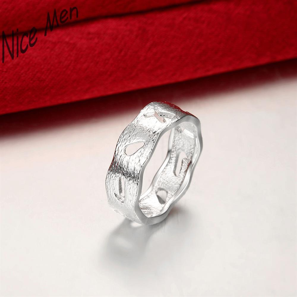 Men man wide styles rings gifts boxes free R752-8 Silver plated new design finger ring for lady
