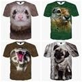 Alta qualidade big boys curto-de mangas compridas personalidade impressão 3d animal criativo t-shirt do menino t-shirt roupas 14-20 anos de idade