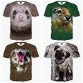 Big boys de manga corta 3d animal creativo de la personalidad de alta calidad de impresión t-shirt ropa del muchacho de la camiseta 14-20 años de edad