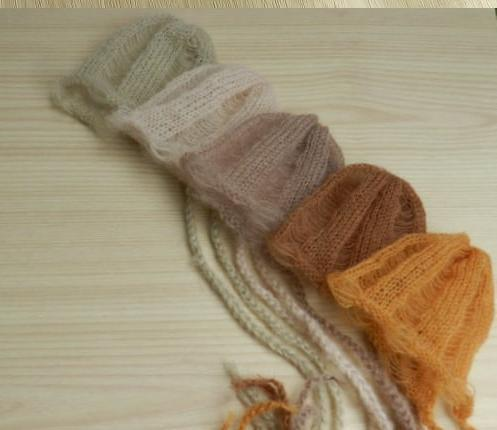 Handcraft Baby hand Knit Mohair Bonnet,Baby Photography Props,Hat Newborn photography props