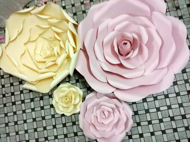 Luxury How To Make Paper Flower Wall Decorations Motif - Wall Art ...