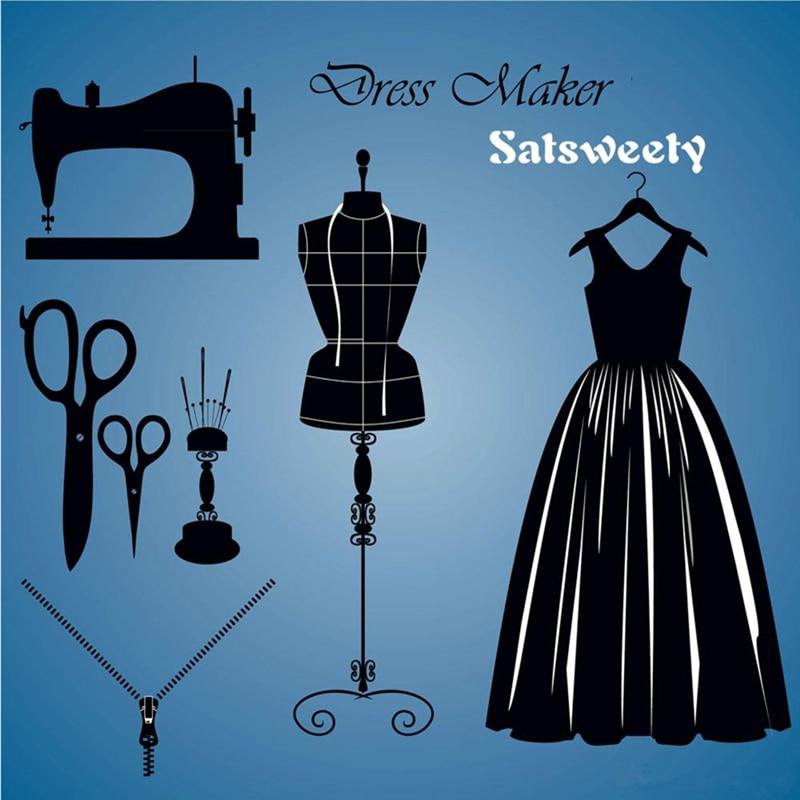 Satsweety Dark Navy Blue Evening Gowns Scoop Appliqued Beaded Bling - Bröllopsfestklänningar - Foto 5