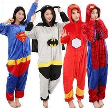 Women men pajamas long-sleeved warm flannel one-piece pajamas cute cartoon home clothing hooded jumpsuit 2019 autumn winter new стоимость