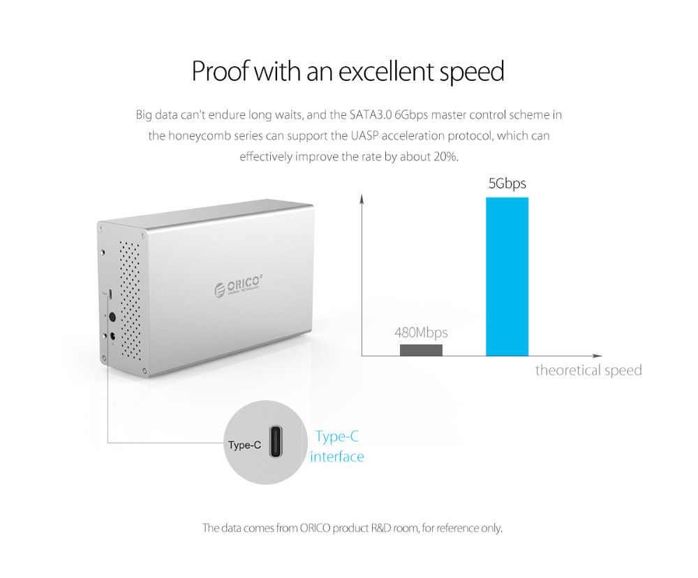 hight resolution of  orico 3 5 dual bay hdd enclosure aluminum hdd case sata to type c external