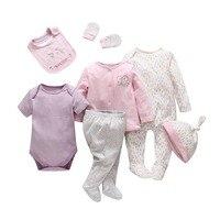 בגדי תינוקות ילד תינוקת חדש שנולד מכרז שבע חתיכות בגדי cartoon הכותנה תינוק סט בגדי ילדים תינוק נוח