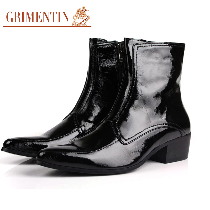 compare prices on mens patent leather boots