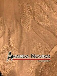 Image 3 - 2019 New Arrival Big Trail Sweetheart Unique Lace Wedding Dress Amanda Novias Real Pictures