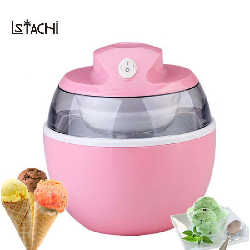 LSTACHi домашний мини-самоохлаждающиеся мороженого автоматический мягкого мороженого машина морозильник мгновенный 15 minitues